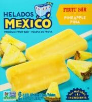 Helados Mexico Pina Pineapple Ice Cream Bars 6 Count - 18 fl oz