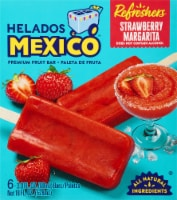 Helados Mexico Refreshers Strawberry Margarita Paletas Fruit Bars - 6 ct / 3 fl oz