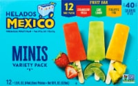 Helados Mexico Variety Mini Fruit Bars 12 Count