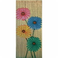 Bamboo54 53015 Quad Flowers Outdoor Bamboo Curtain - 1