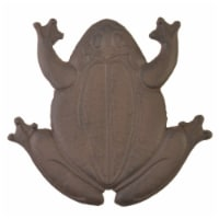 Decorative Frog Stepping Stone - Rust Brown Cast Iron - 13 inch Long - 1