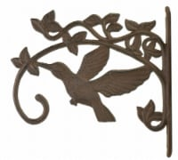 Decorative Hummingbird Cast Iron Plant Hanger Hook - Large 11.25 inch Deep - 1