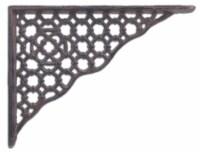 Decorative Shelf Bracket - Ornate Lattice - Rust Brown Cast Iron - 8.5 inch - 1