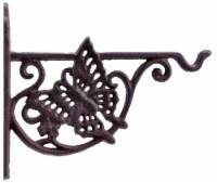 Decorative Cast Iron Plant Hanger Flower Basket Hook - Butterfly - 7.75 inch Deep - 1
