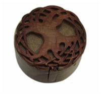 Celtic Tree of Life Hand Crafted Wooden Trinket/Puzzle Box - One Size