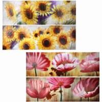 Saltoro Sherpi Oil Painting Flower 4 Styles - 1 unit