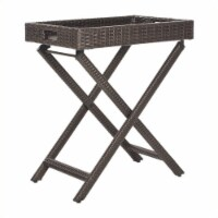 Bardia Tray Table in Brown - Safavieh