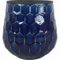 Southern Patio CRM-047087 8 in. Honeycomb Planter, Cobalt