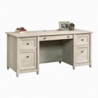 Scranton & Co Executive Desk in Chalked Chestnut - 1