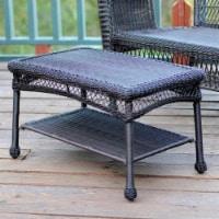 Wicker Patio Furniture Coffee Table in Espresso - Jeco Inc. - 1