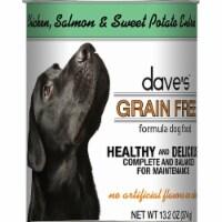 Daves Pet Food DP11745 Grain-Free Chicken, Salmon & Sweet Potato Entree Canned Dog Food - 13 - 12