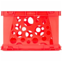 Premium File Crate with Handles, Classroom Red - 1