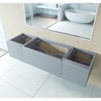 Vitri 72 - Fossil Grey Single Sink Cabinet