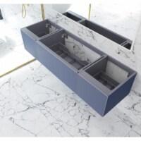 Vitri 72 - Nautical Blue Single Sink  Cabinet