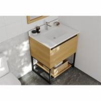 Alto 30 - California White Oak Cabinet + White Quartz Countertop