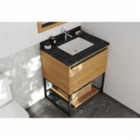 Alto 30 - California White Oak Cabinet + Black Wood Marble Countertop