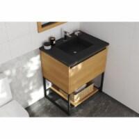 Alto 30 - California White Oak Cabinet + Matte Black VIVA Stone Solid Surface Countertop