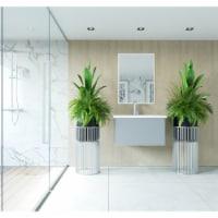 Vitri 30 - Fossil Grey Cabinet + Matte White VIVA Stone Solid Surface Countertop - 1