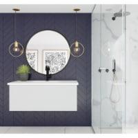 Vitri 42 - Cloud White Cabinet + Matte White VIVA Stone Solid Surface Countertop - 1