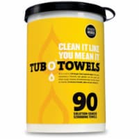 Tub O' Towels Heavy Duty Cleaning Wipes - 90 ct
