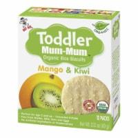 Toddler Mum-Mum Organic Mango & Kiwi Rice Biscuits - 6 Boxes - 6