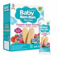 Baby Mum-Mum Organic Super Berries Rice Rusks - 6 Boxes - 6