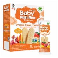 Baby Mum-Mum Organic Super Tropical Rice Rusks - 6 Boxes - 8