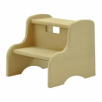 Little Colorado Kids Wooden Stepping Stool with Carrying Handle, Unfinished - 1 Unit