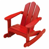 Little Colorado Wood Kids Adirondack Rocking Chair for Indoor Outdoor Use, Red - 1 Piece