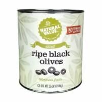 Natural Value 55-oz. Food Service Size SLICED Black Olives / 2PK