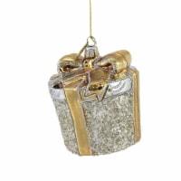 Huras Silver & Gold Christmas Gift Glass Ornament Wedding Anniversary C587 - 1