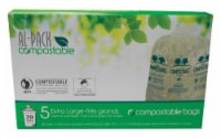 Al-Pack Compostable 39 gal. Lawn & Leaf Bags Flat Top 5 pk - Case Of: 1; Each Pack Qty: 5; - Count of: 1
