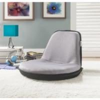 Quickchair Floor Chairs Light Grey Black Mesh Indoor/Outdoor Portable Multiuse - 1