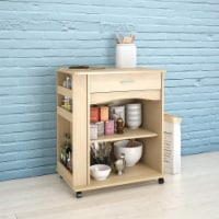 Mobile Microwave Cart - Natural Maple