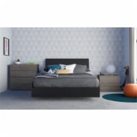 Avatar 4 Piece Full Size Bedroom Set  Bark Grey and Black - 1