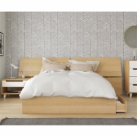 Faro 3 Piece Queen Size Bedroom Set Natural Maple & White - 1