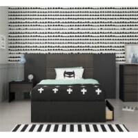 Quito 4 Piece Twin Size Bedroom Set Ebony & Black - 1