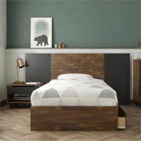 Oscuro 4 Piece Twin Size Bedroom Set Truffle & Black - 1