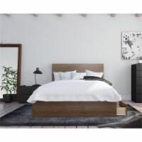 Juno 3 Piece Full Size Bedroom Set Walnut & Black - 1