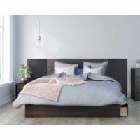 Nexera Grizzly Queen Size Bedroom Set in Ebony and Black - 1