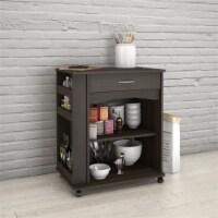 Nexera 497 Mobile Microwave Cart 1-Drawer Ebony - 1