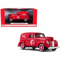1940 Ford Sedan Delivery Van \Coca-Cola\ Red 1/24 Diecast Model Car by Motorcity Classics