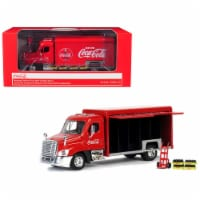 Motorcity Classics 450060 Beverage Delivery Truck Coca-Cola with Handcart & 4 Bottle Cases 1- - 1