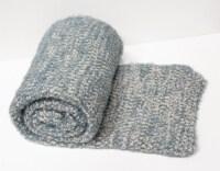 "Myne Throw Blanket Speckled Design 50""x60"" Teal - 1"