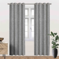 "Heath Energy Saving Blackout Thermal Grommet Curtain Panel Grey 54""x84"" - 1"