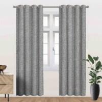 "Heath Energy Saving Blackout Thermal Grommet Curtain Panel Grey 54""x95"" - 1"
