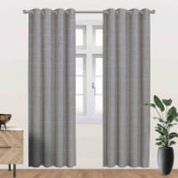 """Driscoll Energy Saving Blackout Thermal Grommet Curtain Panel Grey 54""""x95"""" - 1"""
