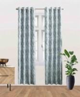 """Sandy Blackout Grommet Curtain Panel Blue 52""""x96"""" - 1"""