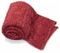 """Myne Throw Blanket Solid Red Knit 50X60"""" - 1"""