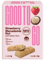 Good to Go Strawberry Macadamia Nut Soft Baked Keto Snack Bars